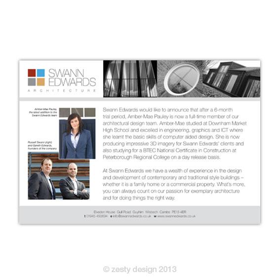 Advert design esther lemmens zesty design for Ad architectural design