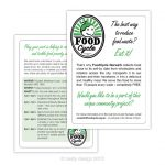 FoodCycle flyer design