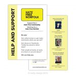 Hate Free Norfolk support leaflet design