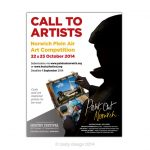 Paint Out Norwich 2014 Call to Artists advert design